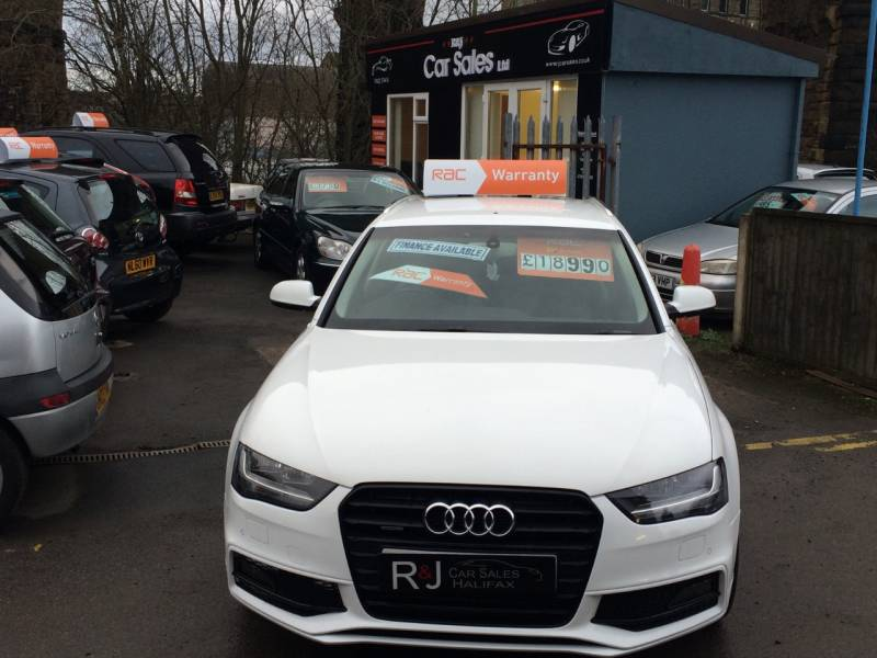 Used cars halifax second hand cars west yorkshire r j car sales audi a4 20 tdi 177 quattro se technik 5dr estate diesel white at r j solutioingenieria Image collections