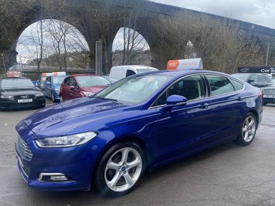 Ford Mondeo 2.0 TDCi Titanium 5dr Powershift Hatchback Diesel Blue at R & J Car Sales Limited	 Halifax