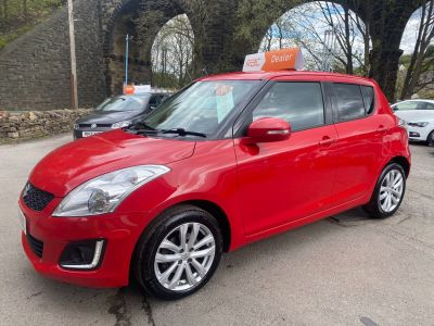 Suzuki Swift 1.2 SZ4 [Nav] 5dr Hatchback Petrol Red at R & J Car Sales Limited	 Halifax