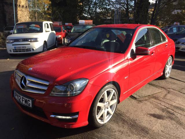 Mercedes-Benz C Class 2.1 C220 CDI BlueEFFICIENCY Sport 4dr Auto Saloon Diesel Red