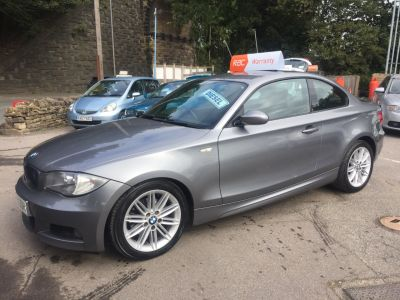 BMW 1 Series 2.0 120d M Sport 2dr Coupe Diesel Grey at R & J Car Sales Limited	 Halifax