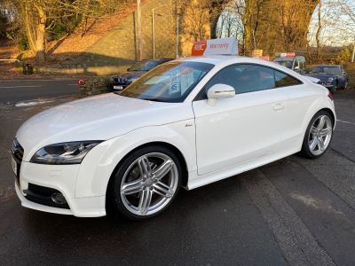 Audi TT 2.0T FSI S Line 2dr [2011] Coupe Petrol White at R & J Car Sales Limited	 Halifax